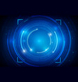 abstract hud technology background 012 vector image vector image