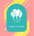 birthday wishes for best friend greeting card vector image
