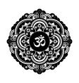 Black and white henna tatoo mandala OM vector image vector image