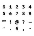 Black Ink Grunge Symbols vector image vector image