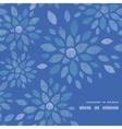 blue textile peony flowers frame corner pattern vector image vector image