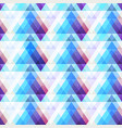 blue triangle texture with grunge effect vector image