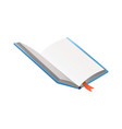 book with bookmark learning or education vector image
