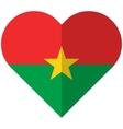 Burkina Faso flat heart flag vector image vector image