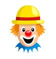 cartoon clown face vector image vector image