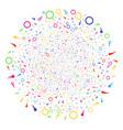 confetti stars festive spheric cluster vector image vector image