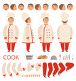 cook animation chef characters body parts hands vector image vector image