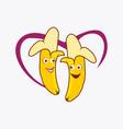couple banana cartoon vector image vector image