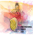 creative abstract for world dance day with vector image vector image