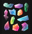 crystals - realistic set of minerals vector image vector image