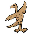 cute archaeopteryx on white background vector image