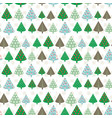 cute seamless pattern with vintage christmas tree vector image vector image