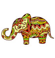 decorative elephant in ethnic pattern vector image vector image