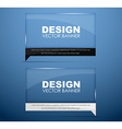 Design glass banners with text vector image vector image