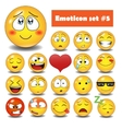 emotional face icons vector image vector image