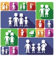 Family icons set flat vector image vector image