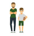family people adult happiness smiling father son vector image vector image