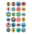 Flat Transport Icons 1 vector image vector image