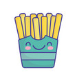 french fries on box cartoon food cute flat style vector image
