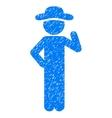 Gentleman Proposal Grainy Texture Icon vector image vector image