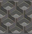 geometric gray 3d greek seamless pattern vector image vector image