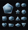 glass plates set on transparent background vector image vector image