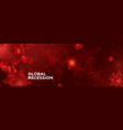 global recession banner concept vector image