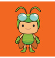 grasshopper cartoon vector image