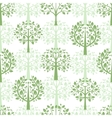 Green trees seamless pattern background vector image vector image
