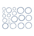 hand drawn circle set of elements sketch vector image vector image