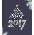 Happy New Year 2017 Christmas tree vector image vector image