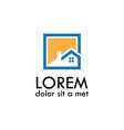 home icon logo vector image