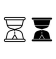 hourglass line and glyph icon sandglass vector image