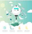 intelligent ai robot flat design vector image vector image