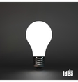 Lightbulb idea symbol 3d vector image vector image