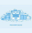 market trade business trading platform account vector image