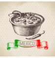 Mexican traditional food background with chili vector image vector image