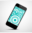 mobile phone icon with retro circles flat design vector image vector image