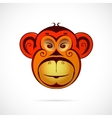 Monkey cartoon as symbol for year 2016 vector image vector image