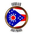 ohio proud flag button vector image