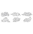 oriental chinese cloud set vector image vector image