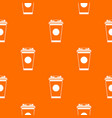 paper coffee cup pattern seamless vector image