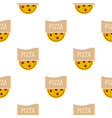 pizza emblem for pizzeria pattern flat vector image vector image