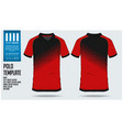 red polo t shirt sport template design vector image