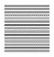 rope brushes set frame design elements vector image