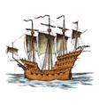 sailboat in sea summer adventure active vector image vector image