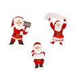 santa claus with christmas banner sign board vector image vector image