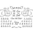 set hand drawnf rustic decorative swirls vector image vector image