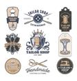 Set of tailor emblem signage