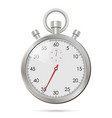 silver realistic stopwatch vector image vector image